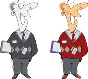 Office worker cartoon Royalty Free Stock Photography