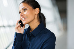 Office worker cell phone Stock Photos