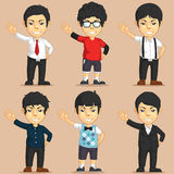 Office Worker Character Set Royalty Free Stock Photo