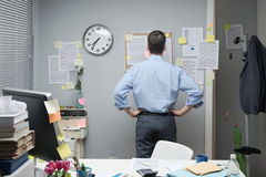 Office worker checking notes Royalty Free Stock Photography