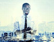 Office Worker Cityscape River Pier Concepts Stock Photography