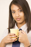 Office worker with coffee Stock Photo