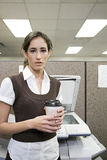 Office worker with coffee Stock Photography