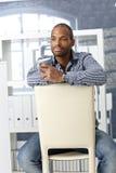 Office worker on coffee break Stock Images