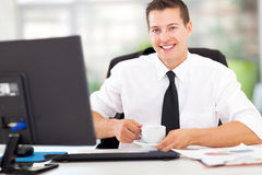Office worker coffee Royalty Free Stock Photo