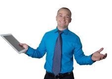 Office worker confused Royalty Free Stock Photos