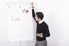 Consultant giving a business presentation Stock Images