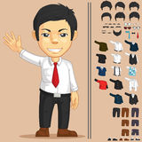 Office Worker Customizable Character. A vector set of a man with many clothes and accessories that can be customized. Drawn in cartoon style, this vector is very Stock Photos