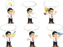 Office Worker Customizable Mascot 15. A vector set of a male office worker in several poses. Drawn in cartoon style, this vector is very good for design that Stock Photos