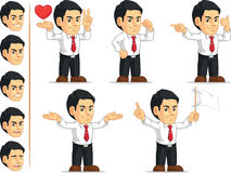 Office Worker Customizable Mascot 9. A vector set of a male office worker in several poses. Drawn in cartoon style, this vector is very good for design that need Royalty Free Stock Images
