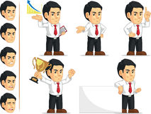 Office Worker Customizable Mascot. A vector set of a male office worker in several poses. Drawn in cartoon style, this vector is very good for design that need Stock Photos