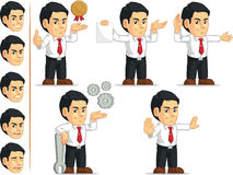 Office Worker Customizable Mascot 12. A vector set of a male office worker in several poses. Drawn in cartoon style, this vector is very good for design that Stock Photos