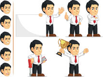 Office Worker Customizable Mascot 2. A vector set of a male office worker in several poses. Drawn in cartoon style, this vector is very good for design that need Royalty Free Stock Photography