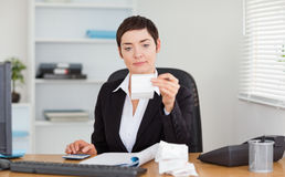 Office worker doing accountancy Stock Images