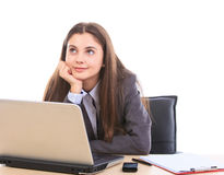 Office worker dreaming Stock Photos