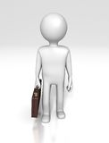 Office Worker Figure (With Clipping Path) Stock Images