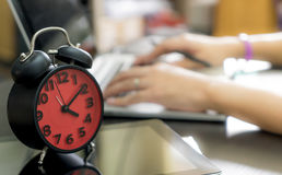 Office worker is finish working in the afternoon hour. Stock Photos
