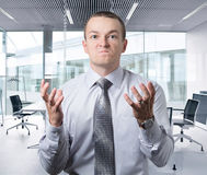Office worker get angry. Office worker gets angry Royalty Free Stock Photography