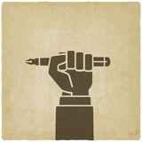 Office worker hand with pen Royalty Free Stock Photography