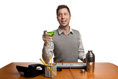 Office Worker having a cocktail Royalty Free Stock Photo