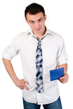 Office worker holding document Stock Photography