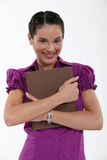 Office worker holding folder Royalty Free Stock Photo