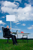Office worker on holidays Royalty Free Stock Photography