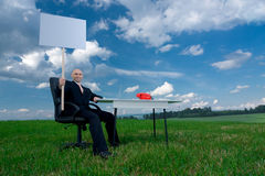 Office worker on holidays royalty free stock image