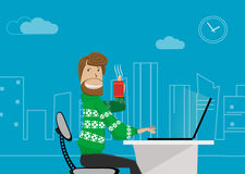 Office worker at home. Royalty Free Stock Photography