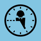 Office worker hours Royalty Free Stock Photo