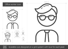 Office worker line icon. Stock Images