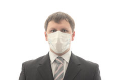 Office worker in the medical mask. Isolated object Royalty Free Stock Photography