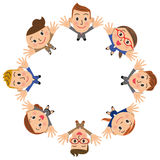 Office worker meeting circle royalty free stock image