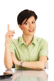 Office worker over white Stock Photography