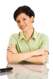 Office worker over white Royalty Free Stock Photos