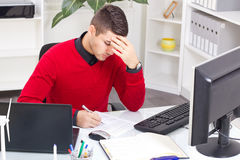 Office worker overworked Royalty Free Stock Photography