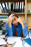 Office worker overworked Royalty Free Stock Image