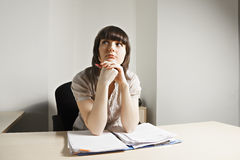 Office worker at paperwork Stock Images