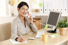 Office worker on phone Stock Photos