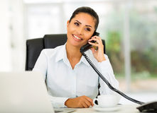 Office worker phone Royalty Free Stock Photos