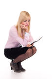 Office Worker Posing Royalty Free Stock Image