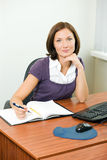 Office worker posing for camera Stock Image