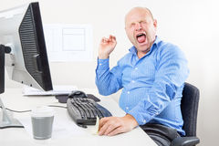 Office worker screaming Royalty Free Stock Photography