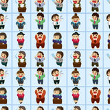 Office worker seamless pattern Stock Photography