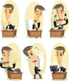 Office worker set Stock Images