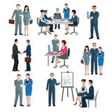 Office Worker Set royalty free illustration