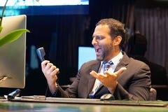 Secretary answering phone calls stock photo