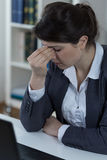 Office worker with sinusitis Royalty Free Stock Images