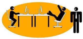 Office worker slacking off Stock Image