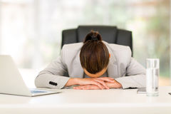 Office worker sleeping Royalty Free Stock Images